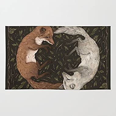 Society6 Foxes Rug 2' x 3'