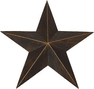 12 inches Texas Style Clear-cut Star Wall Decor