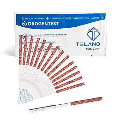 15x Telano Cannabis Drogentest THC   Urin Drogentest zum Nachweis von Abbauprodukten von Cannabis, Marihuana und Haschisch im Körper   Drogenschnelltest Cannabis