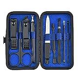 XIAN Kit de manicura pedicura con estuche portátil elegante kits de aseo caso pequeño bolso portátil belleza cuidado personal manicura pedicura set profesional kit