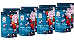 REAL FRUIT & YOGURT: Nourish your little one with the goodness of our Yogurt Melts Freeze-Dried Yogurt & Fruit Snacks. These snacks are made with real fruit & perfectly sized for tiny hands. Includes 4 each of Strawberry & Mixed Berry PACKED WITH GOO...