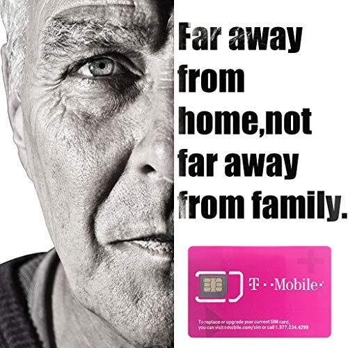 T-mobile Prepaid USA Sim-Karte Unbegrenzt vorinstalliert Daten / Anrufe / Texte-7 Tage