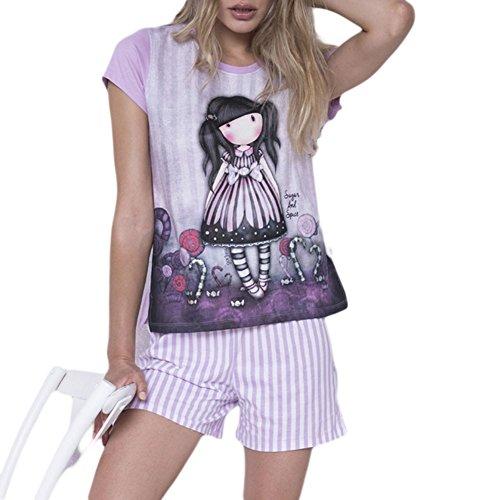 Pijama Mujer Verano Gorjuss - Sugar and Spice, M