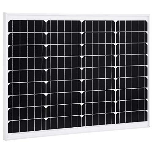 N/O Viel Spaß beim Einkaufen mit Solarmodul 50 W Monokristallin Aluminium und Sicherheitsglas