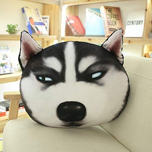 JJFU sierkussen vorm kussen hoofdkussen simulatie hondenhoofdkussen afneembaar en wasbaar persoonlijkheid kussen schattig hete haar kussen @ A