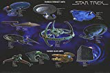 POSTER STOP ONLINE Star Trek - TV Show Poster Starfleet Ships (Size 40' x 27')