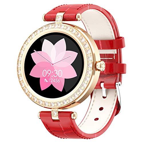 AYZE Reloj Smartwatch Mujer 24 Modos De Fitness, Monitorización De Datos De Sueño/Frecuencia CardíAca, Control De CáMara/MúSica, Batería De 180 mAh, Empuje De Información, Reloj De Llamadas Gold