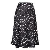 Frauen Casual Hohe Taille Rock Leopard gedruckt Muster A-Linie Stil Kleid...