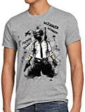 A.N.T. Winner Combat Camiseta para Hombre T-Shirt Battle Royale PVP Multiplayer, Talla:L, Color:Gris Brezo