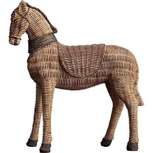 LOGT Patrón de ratán caballo resina adornos salón estudio TV gabinete vino gabinete zapato gabinete muebles para el hogar