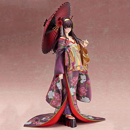 CQ Saekano: Cómo criar a una Novia Boring - Utaha Kasumigaoka Kimono Versión 1/8 Escala de PVC Figura del Anime japonés Serie Estatua Toys