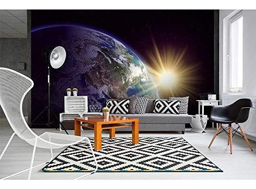 Vlies Fotobehang AARDE | Niet-Geweven Foto Mural | Wall Mural - Behang - Reusachtige Wandposter | Premium Kwaliteit - Gemaakt in de EU | 375 cm x 250 cm