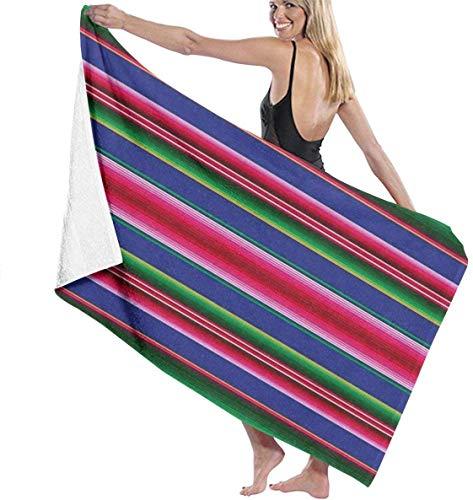 Ches Mexican Serape Designs Damen Spa Dusch- und Wickeltücher Bademantel – Weiß, Siehe Abbildung, Einheitsgröße