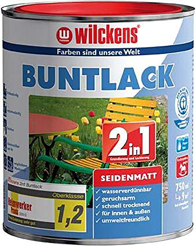 Wilckens 2in1 Buntlack seidenmatt RAL 7016 Anthrazitgrau 750 ml