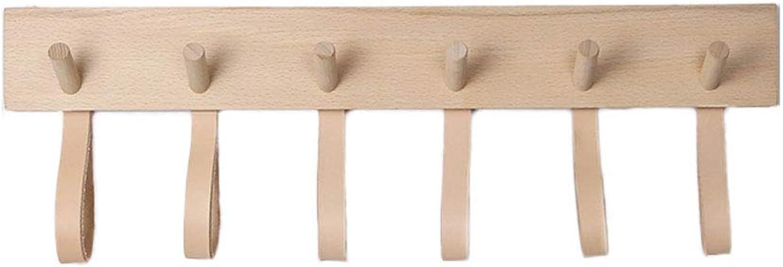 Solid Wood Coat Hook Nordic Simple Wall Hook Entry Door Coat Rack (color   Wood, Size   6HOOKS)