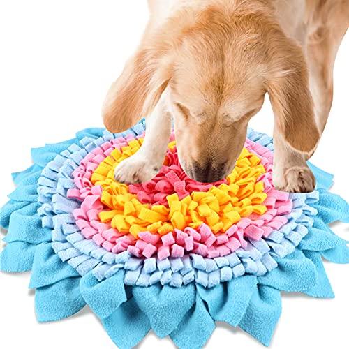 Nabance Tapis de Chien Snuffle Mat Multicolore Tapis de Fouille Jouet Chien Dog Puzzle Toys Tapis éducateurs pour Chien Animaux Domestique Entraîner Le Sens de l