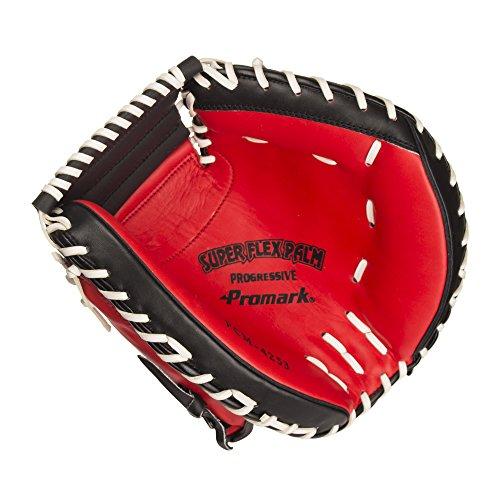 『サクライ貿易(SAKURAI) Promark(プロマーク) 野球 一般軟式用 グラブ(グローブ) 捕手用 キャッチャーミット レッドオレンジ×ブラック PCM-4253』の2枚目の画像