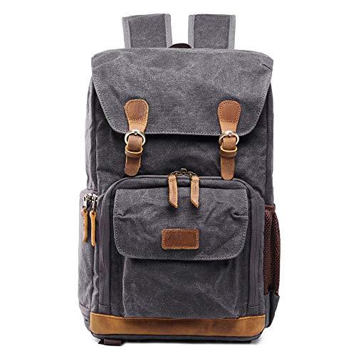 CapsA Waterproof Camera Backpack Vintage Backpack Photography Canvas Bag...