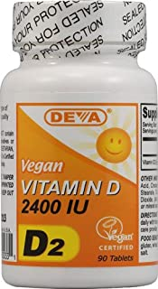 Deva Vegan Vitamin D - 2400 IU - 90 Tablets - 3PC