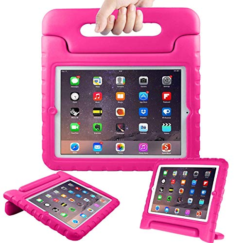 Surom Kids Case for iPad 2 3 4 - Light Weight Shock Proof Convertible Handle Stand Kids Friendly for iPad 2, iPad 3rd generation, iPad 4th generation Tablet - Rose Pink