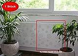Heizkörperverkleidung 60 x 60 cm Design: Flower Frame, weiß (1 Stück) Marke: Szagato (Heizkörper-abdeckung für Heizkörper/Heizung Heizungs-verkleidung Heizkörper-verkleidung Heizungs-abdeckung)