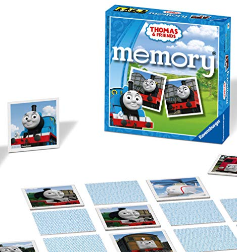 Ravensburger Thomas & Friends Mini Memory Game - Matching Picture Snap Pairs Game For Kids Age 3 Years and Up