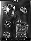 CASINO KIT mold Chocolate Candy Soap cake topper poker cards chips slot machine