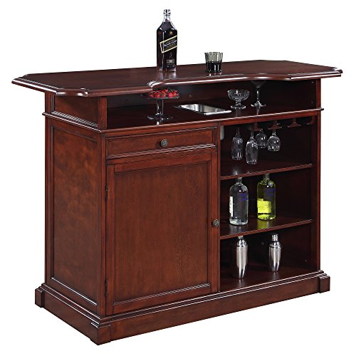 Hathaway Ridgeline 5' Home bar Set with Storage Mahogany