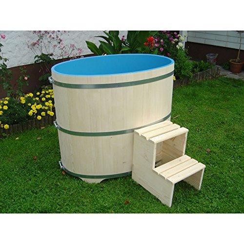 Achleitner Holzwaren Sauna Tauchbecken aus Fichtenholz Natur Innen blau Beschichtet 669