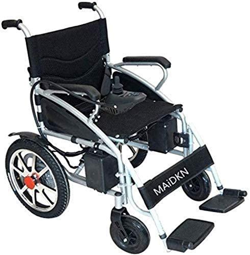 HZYDD Silla de Ruedas Multifuncional, Silla de Ruedas eléctrica Plegable Ligera, Scooter, GPS, rotación de 360 °, Adecuado for la Multitud: Ancianos/discapacitados (Silver .250W * 2)