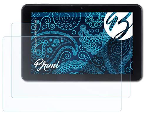 Bruni Schutzfolie kompatibel mit Captiva Captiva Pad 10.1 Folie, glasklare Bildschirmschutzfolie (2X)