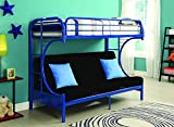 Acme Eclipse Futon Bunk Bed, Twin X-Large/Queen, Blue