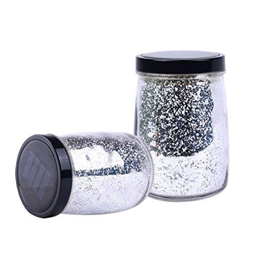 Uonlytech Starry Star Fairy Jar - Farolillo solar para patio, jardín, patio, boda, decoración de mesa (siete colores)