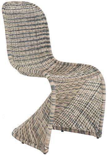 Schwingstuhl Esszimmer-Stuhl Rattan Mix Mehrfarbig