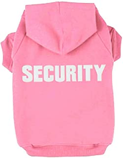 Rdc Pet Dog Hoodies Security Printed, Apparel Dog Sweatshirt Warm Sweater, Cotton Jacket Coat for Small Dog & Medium Dog & Cat (Pink)