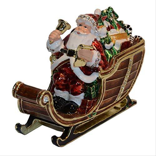 CHQSMZ Jewelry Box Vintage Decoration Box Christmas Father Santa Claus Jewelry Trinket Box Ring Box Jewelry Case Gift Box Christmas Ornament Gift