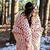 Berkshire Blanket Chunky Double Knit Luxury Soft Cozy Throw Blanket, Misty Rose, 50' x 60'