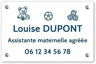 Personaliseerbaar bord voor kleuterschoolassistent, personaliseerbaar, 30 x 20 cm, witte letters, schroeven + pluggen + sc...