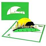Pop Up Karte'Jogging - Laufen im Park' 3D Geburtstagskarte & Glückwunschkarte, Fitness, Jogger, Marathon & Outdoor Sport - zum Geburtstag, als Einladungskarte, Geschenkgutschein, Geschenkverpackung