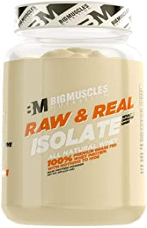 Bigmuscles Nutrition Raw & Real Isolate Organic Whey Protein [907g] - Natural - 90% Protein, Additive Free, Unflavored, 27g Protein With Naturally Ocurring BCAA and Glutamine per serving
