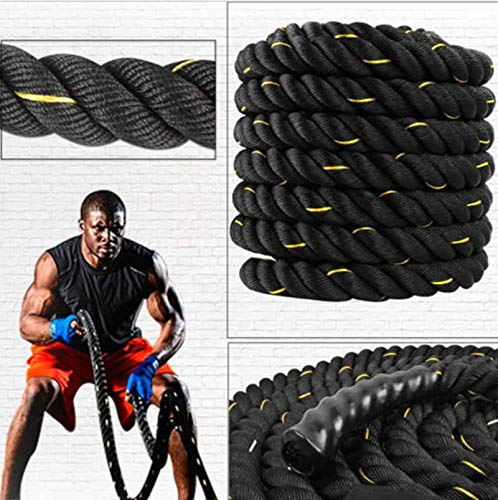 B FIT Battle Rope. Full Body Workout Equipment to Lose Fat & Boost Strength. Fast & Efficient Training 1.5 Inch Heavy Rope in 30 Feet