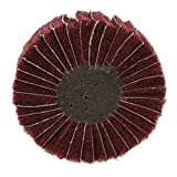 Schleifmop Lamellenschleifer Fächerschleifer Schleifwalzen, zum Beschichten, Reinigen, Polieren, 6mm Schaft - 80 × 25 × 6 mit Grits Rot