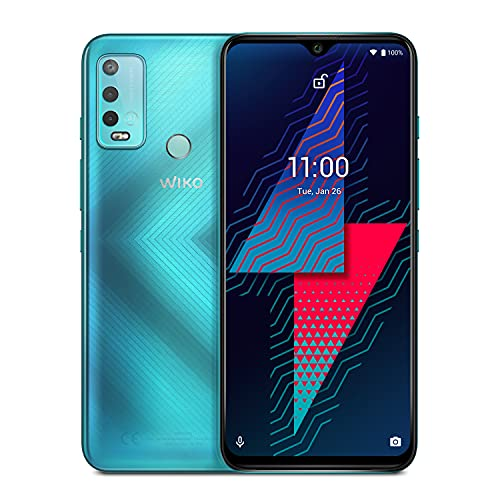 "WIKO Power U30 - Smartphone 4G de 6,8"" (6000 mAh de batería para autonomía de 4 días, Dual SIM, 64GB ROM, 4GB RAM, Octa Core 2,3GHz, Triple cámara de 13MP, Android 11) Mint"