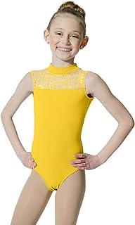 6ae3504d8b HDW DANCE Kids Girls Ballet Dance Leotard Lace Turtle Neck Open Back Cotton  …
