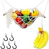 Cesta de frutas para colgar Estantes para fruta Hamaca De Frutas con soporte para plátanos, cesta para verduras, cesta de pie para almacenamiento diario en la cocina