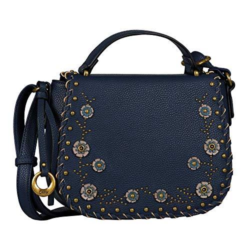 Gabor Umhängetasche Damen Giulia, (Blau), 23x19x8 cm, Gabor Handtasche Damen