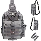YVLEEN Fishing Tackle Backpack - Outdoor Large Fishing Tackle...