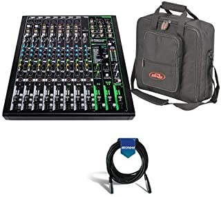 """$309 » Mackie ProFXv3 12-Channel Professional Effects Mixer with USB + Software Bundle - Bundle With SKB Universal Equipment/Mixer Bag, 15x15x5"""" Black, 20' Heavy Duty 7mm Rubber XLR Microphone Cable"""