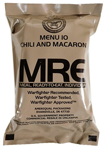 Chili and Macaroni MRE Meal - Genuine US Military Surplus Inspection Date 2020 and Up