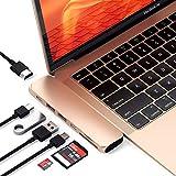 Satechi Type-C アルミニウム Proハブ (スペースグレイ) MacBook Pro 2016以降, MacBook Air 2018以降対応 40Gbs USB-C PD 4K HDMI Micro/SDカード USB 3.0ポート×2 マルチ USB ハブ